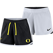Nike Women's Oregon Ducks Black/White Touch Reversible Performance Shorts
