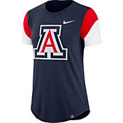 Nike Women's Arizona Wildcats Navy Tri-Blend Fan Crew T-Shirt