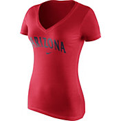 Nike Women's Arizona Wildcats Cardinal Wordmark V-Neck T-Shirt