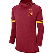 Nike Women's USC Trojans Cardinal Funnel Neck Long Sleeve Top