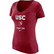 Nike Women's USC Trojans Cardinal Franchise Dri-Blend V-Neck T-Shirt