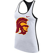Nike Women's USC Trojans White Dri-FIT Touch Tank Top