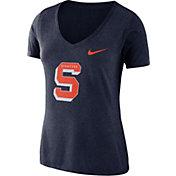 Nike Women's Syracuse Orange Blue Vault Tri-Blend V-Neck T-Shirt