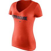 Nike Women's Syracuse Orange Orange Wordmark V-Neck T-Shirt
