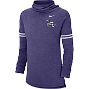 Nike Women's TCU Horned Frogs Purple Funnel Neck Long Sleeve Top