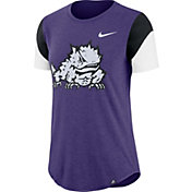 Nike Women's TCU Horned Frogs Purple Tri-Blend Fan Crew T-Shirt