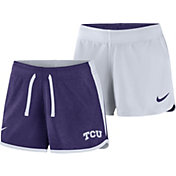 Nike Women's TCU Horned Frogs Purple/White Touch Reversible Performance Shorts