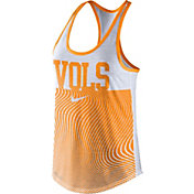 Nike Women's Tennessee Volunteers Grey Modern Sport Dri-Fit Dri-Blend Tank Top