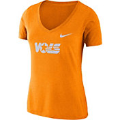 Nike Women's Tennessee Volunteers Tennessee Orange Vault Tri-Blend V-Neck T-Shirt