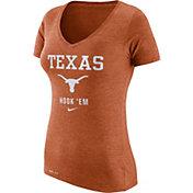 Nike Women's Texas Longhorns Burnt Orange Franchise Dri-Blend V-Neck T-Shirt