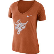 Nike Women's Texas Longhorns Burnt Orange Vault Tri-Blend V-Neck T-Shirt