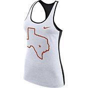 Nike Women's Texas Longhorns White Dri-FIT Touch Tank Top