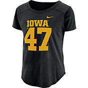 Nike Women's Iowa Hawkeyes Modern Fan Black Jersey Top