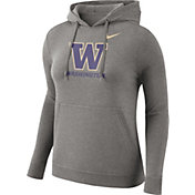 Nike Women's Washington Huskies Grey Club Pullover Hoodie