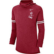 Nike Women's Washington State Cougars Crimson Funnel Neck Long Sleeve Top