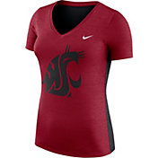 Nike Women's Washington State Cougars Heathered Crimson Dri-FIT Touch V-Neck T-Shirt