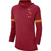 Nike Women's Iowa State Cyclones Cardinal Funnel Neck Long Sleeve Top