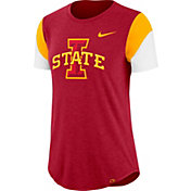 Nike Women's Iowa State Cyclones Cardinal Tri-Blend Fan Crew T-Shirt