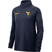 Nike Women's West Virginia Mountaineers Blue Core Half-Zip Shirt