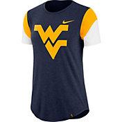 Nike Women's West Virginia Mountaineers Blue Tri-Blend Fan Crew T-Shirt