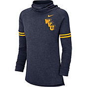 Nike Women's West Virginia Mountaineers Blue Funnel Neck Long Sleeve Top