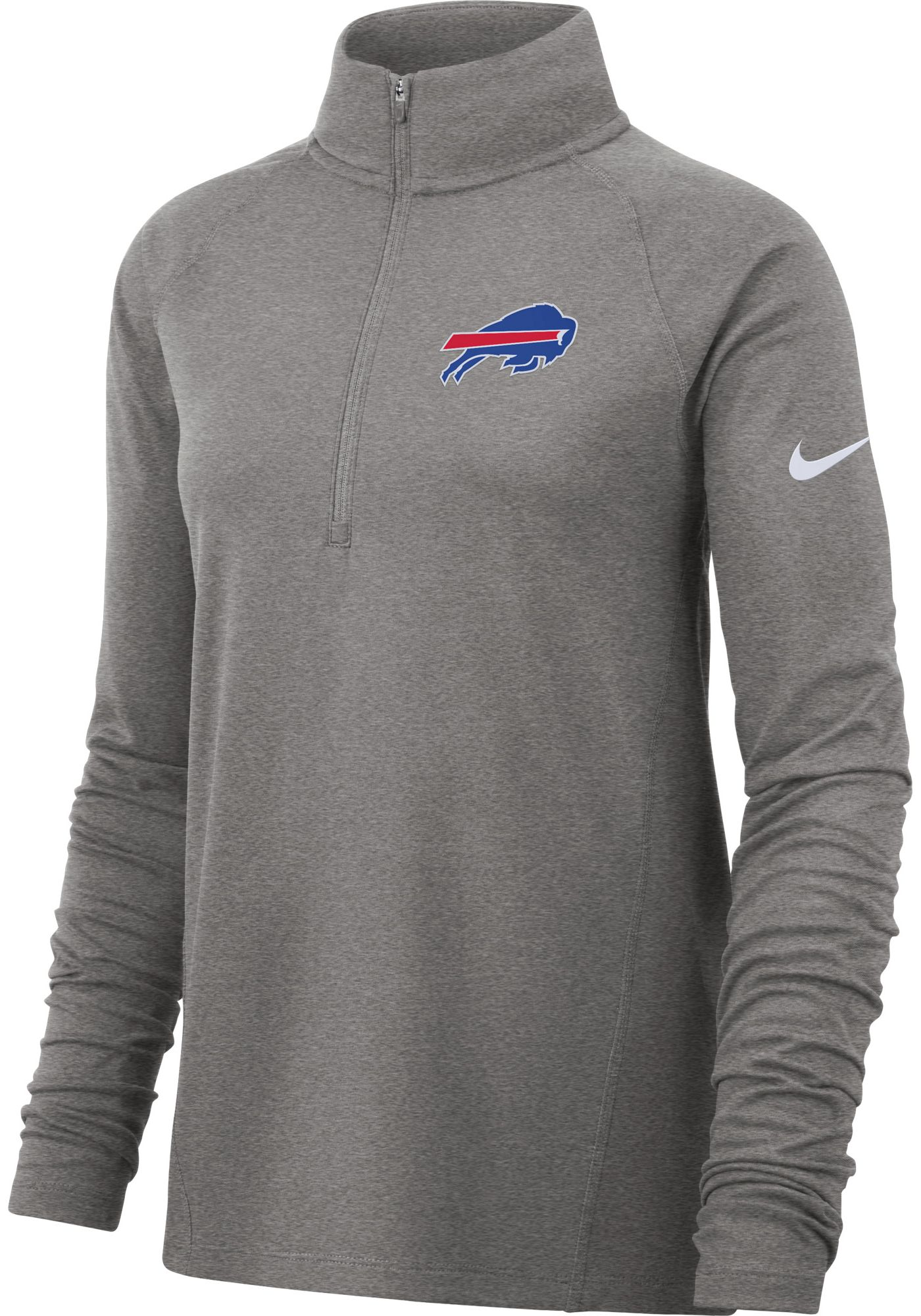 Nike Women's Buffalo Bills Core Grey Half-Zip Pullover