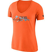 Nike Women's Cincinnati Bengals Historic Logo Tri-Blend Orange T-Shirt