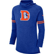 Nike Women's Denver Broncos History Royal Funnel Pullover