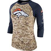 Nike Women's Denver Broncos Salute to Service 2017 Camouflage Raglan