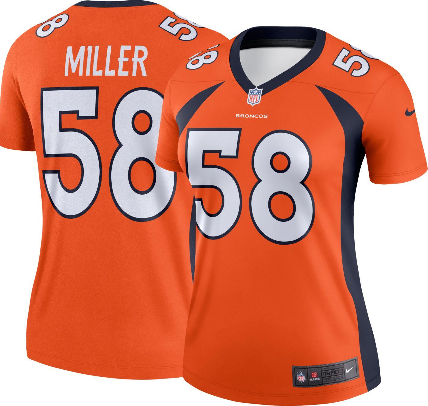 Nike Women's Alternate Legend Jersey Denver Broncos Von Miller #58