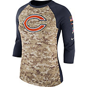 Nike Women's Chicago Bears Salute to Service 2017 Camouflage Raglan