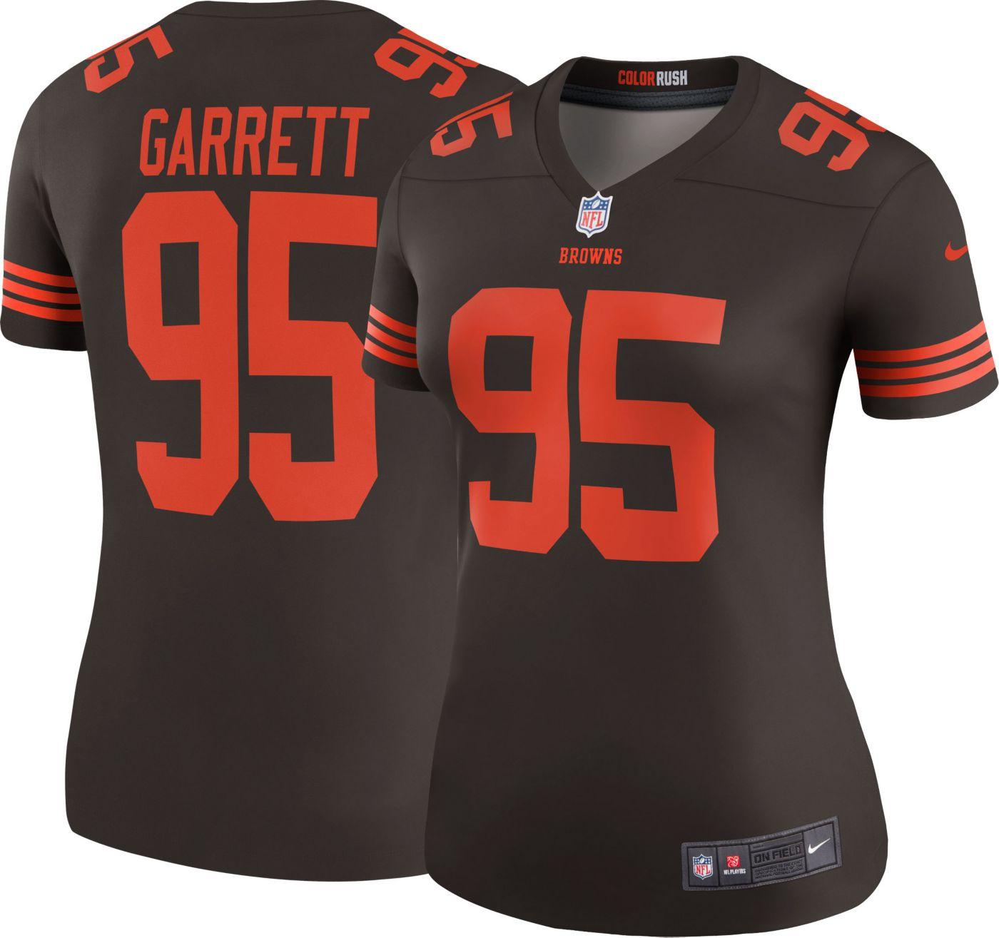 Nike Women's Color Rush Legend Jersey Cleveland Browns Myles Garrett #95