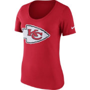 Nike Women's Kansas City Chiefs Primary Logo Red Scoop Neck T-Shirt