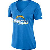 Nike Women's Los Angeles Chargers Dry Performance Blue V-Neck Top