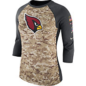 Nike Women's Arizona Cardinals Salute to Service 2017 Camouflage Raglan