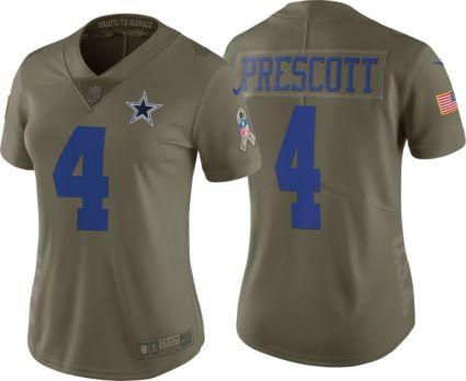 Nike Women s Limited Salute to Service 2017 Dallas Cowboys Dak Prescott  4  Jersey. noImageFound 7253fcb11