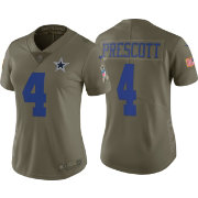 Nike Women s Limited Salute to Service 2017 Dallas Cowboys Dak Prescott  4  Jersey 8a49af058