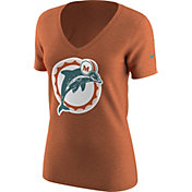 Nike Women's Miami Dolphins Alt Logo Orange V-Neck T-Shirt