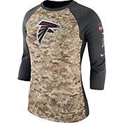 Nike Women's Atlanta Falcons Salute to Service 2017 Camouflage Raglan