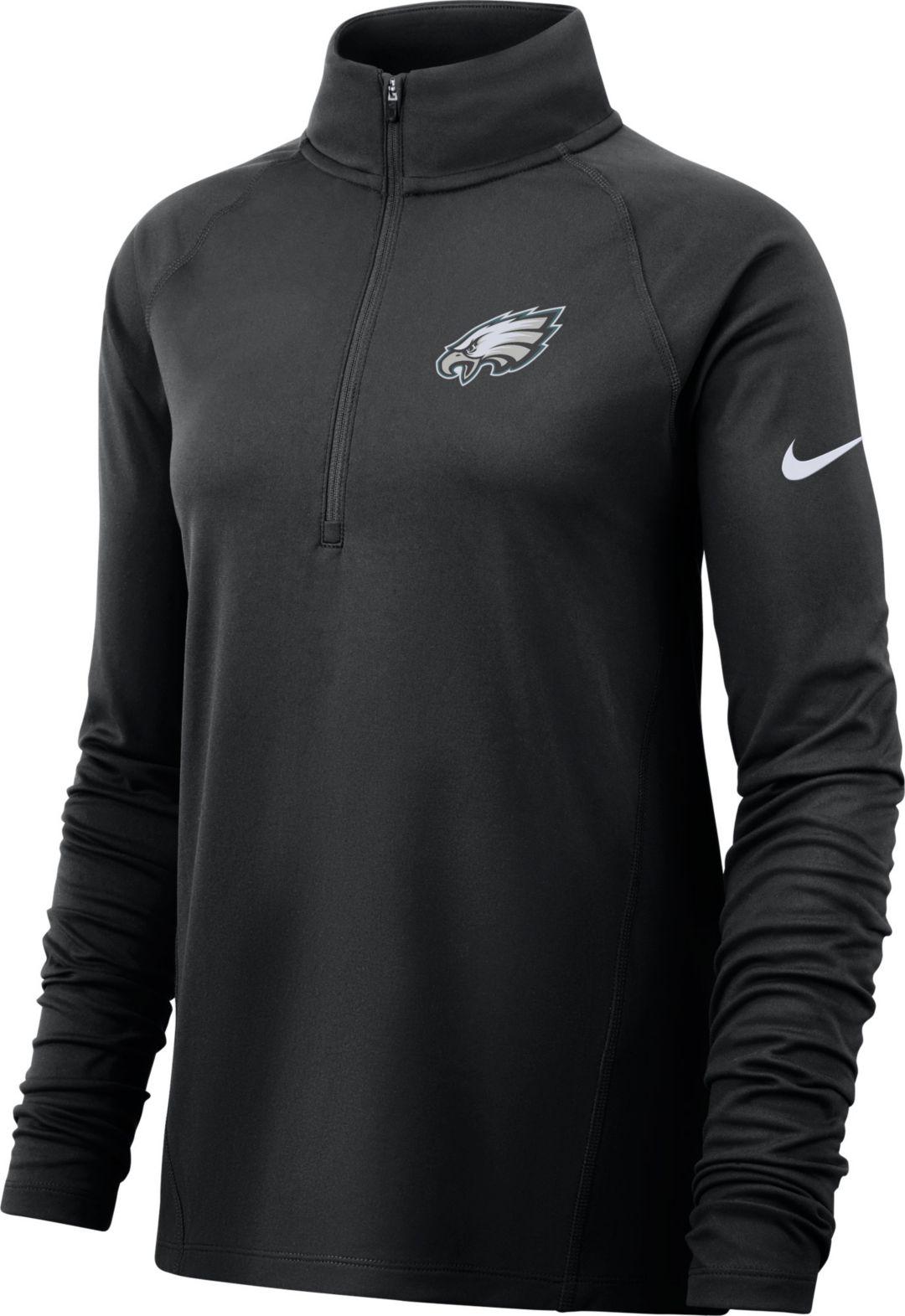the latest bf7b7 05de9 Nike Women's Philadelphia Eagles Core Black Half-Zip Pullover