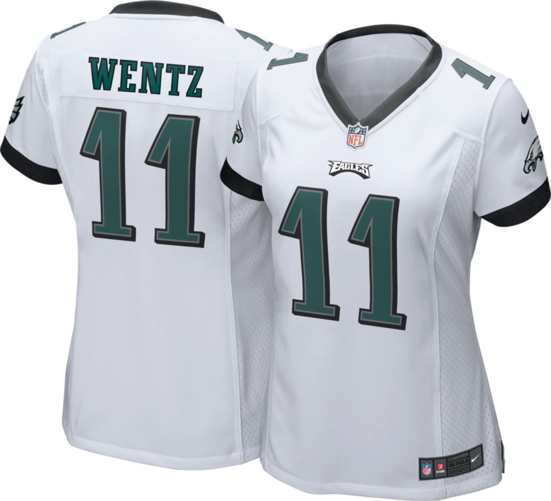 new product aa373 c79d1 Nike Women's Away Game Jersey Philadelphia Eagles Carson Wentz #11