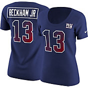 Nike Women's New York Giants Odell Beckham Jr. #13 Prism Player Blue T-Shirt