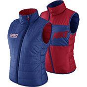 Nike Women's New York Giants Sideline 2017 Reversible Blue Vest