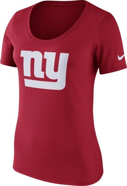 Nice Nike Women's New York Giants Primary Logo Red Scoop Neck T Shirt