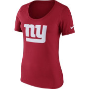 Nike Women's New York Giants Primary Logo Red Scoop Neck T-Shirt