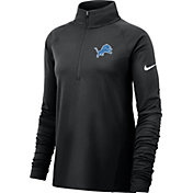 Nike Women's Detroit Lions Core Black Half-Zip Pullover