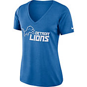 Nike Women's Detroit Lions Dry Performance Blue V-Neck Top