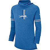 Nike Women's Detroit Lions History Blue Funnel Pullover