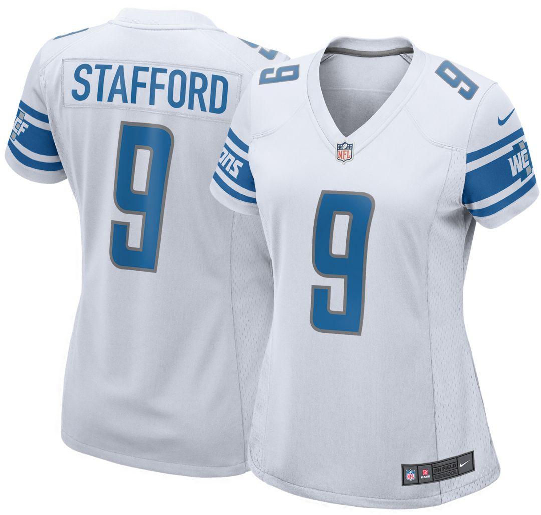 cheap for discount 67c7f 9f5c3 Nike Women's Away Game Jersey Detroit Lions Matthew Stafford #9