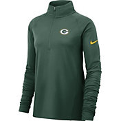 Nike Women's Green Bay Packers Core Green Half-Zip Pullover